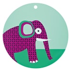 Wildlife Silicone Placemat elephant