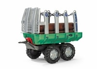 "ROLLYTOYS Vlečka s kládami ""Timber Trailer"" 2-osá-zelená"