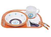 Dish Set with Silicone wildlife birdie