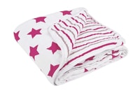 Lässig Cozy Blanket 120x120 stars stripes girls