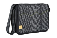 Lässig Casual Messenger Bag Zigzag black white