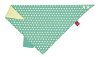 Lässig Interlock Bandana with Silicone Teether dottie green