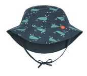 Lässig Sun Protection Bucket Hat blue whale 06-18 mo.