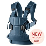 BABYBJORN Ergonomické nosítko Babybjorn ONE Classic Denim/ Midnight blue Cotton 2018