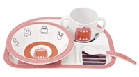Lässig Dish Set with Silicone Little Monsters mad mabel