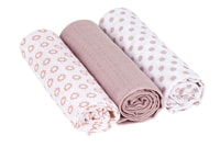 Lässig Swaddle Burp blanket 85x85 Little Chums Star light pink