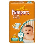 Pampers Sleep & Play Value Pack S3 58ks