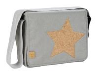 Lässig Casual Messenger Bag Cork Star light grey