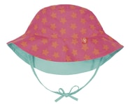 Lässig Reversible Bucket Hat Girls peach stars 6-18m