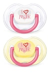 "Philips Avent Šidítko ""I love milk"" 0-6m bez BPA 2ks"