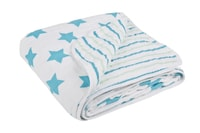 Lässig Cozy Blanket 120x120 stars stripes boys