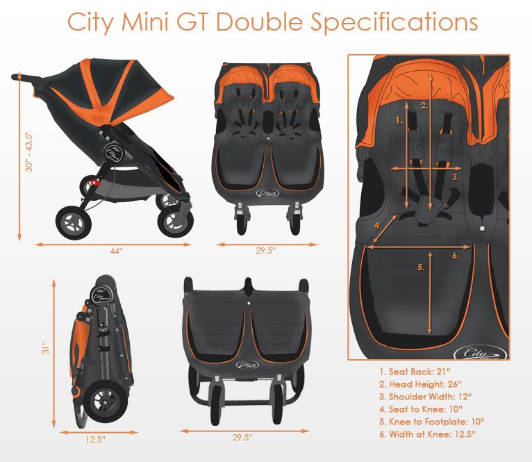 Baby Jogger City Mini Gt Double Baby Jogger Koč 225 Rky