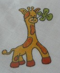 LTZ Textilní plenka s potiskem 70x70cm 5ks - žirafka