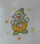 LTZ Textilní plenka s potiskem 70x70cm 5ks - klaun