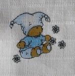 LTZ Textilní plenka s potiskem 70x70cm 5ks - medvídek modrý