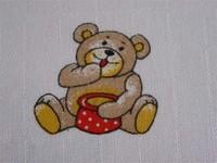 LTZ Textilní plenka s potiskem 70x70cm 5ks - medvídek Brumla