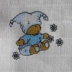 LTZ Tetra osuška s potiskem 90x100 cm 2ks - medvídek modrý