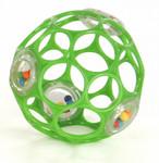 Bright Starts Hračka/chrastítko OBALL RATTLE 10 cm, 0m+ - zelená