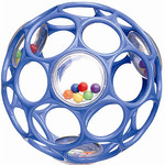 Bright Starts Hračka/chrastítko OBALL RATTLE 10 cm, 0m+ - tm.modrá