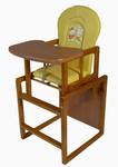 Tomi Jídelní židlička Konrád IV - medová/žlutá králík