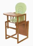 Tomi Jídelní židlička Konrád IV - medová/zelená králík