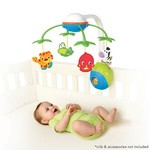 Bright Starts Kolotoč na postýlku Soothing Safari 2-in-1 Mobile™ (0-5 m)