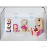 Nábytek pro panenky – koupelna, 22 dílů