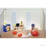 Nábytek pro panenky – obývací pokoj, 28 dílů