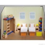 Nábytek pro panenky – ložnice, 21 dílů