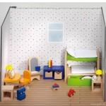 Nábytek pro panenky – dětský pokoj, 28 dílů