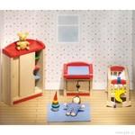 Nábytek pro panenky – dětský pokoj, 12 dílů