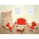 Nábytek pro panenky – obývací pokoj, 5 dílů