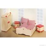 Nábytek pro panenky – ložnice, 4 díly