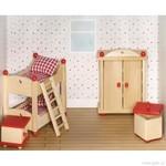Nábytek pro panenky – dětský pokoj, 5 dílů