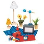 Doplňky pro panenky do obývacího pokoje a ložnice