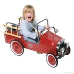 Kovové šlapací auto s gumovými koly – hasiči