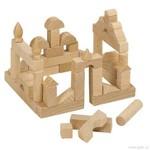 Mini dřevěné stavební kostky