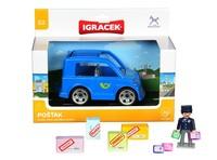 IGRÁČEK - Pošťák + auto + doplňky