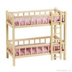 Goki Dřevěná patrová postýlka pro panenky