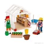 Goki Domeček pro panenky skleník, 2 panenky, 49 dílů