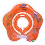 Baby Ring kruh kolem krku pro koupání miminek - 0-24 měs. oranžová