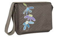 Casual Messenger Bag Flowerpatch slate