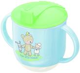 Rotho® Dětský hrneček na pití - Baby Blue perl/mintgreen/white-Medvídek,ovečka,zajíček