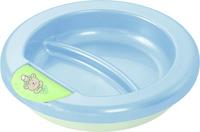 Rotho® Talíř uchovávající teplotu jídla - Baby Blue perl/mintgreen/white-Medvídek