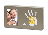 Baby Art Duo Paint Print Frame Taupe