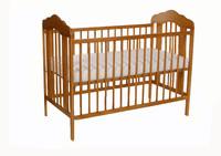 Tomi Dětská dřevěná postýlka TOMI IX - medová