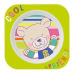 Rotho® Cool Friends Hranatý talíř - Apple green