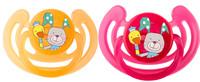 Rotho® Cool Friends Šidítka 2ks 6m+ - Smile - Raspberry / Mandarine