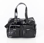 OiOi Carry all Diaper Bag - Black Patent / Zebra