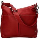 OiOi Hobo Diaper Bag 2 pocket Leather - Pompeii Red